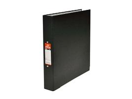 """DF018 แฟ้มตราม้าNO.H925F/Aสันแฟ้มกว้าง1""""สีดำมีห่วงปกกระดาษหุ้มพลาสติก(6อัน/แพ็ค)"""
