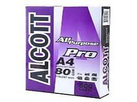 PP040 กระดาษปอนด์ A4 80g ALCOTT (500 แผ่น/ห่อ)