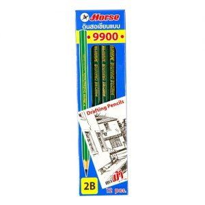 ST006 ดินสอ ตราม้า 2B H9900 (12 แท่ง/กล่อง)